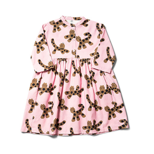 Parti Animal Dress - Mallow Pink / Umber