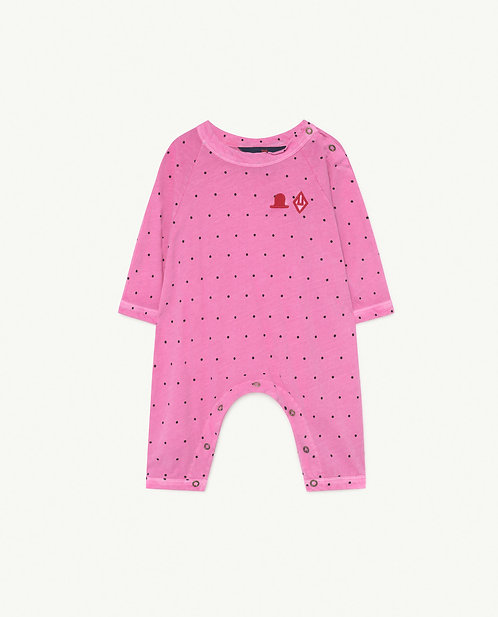 OWL BABY BODY PINK DOTS