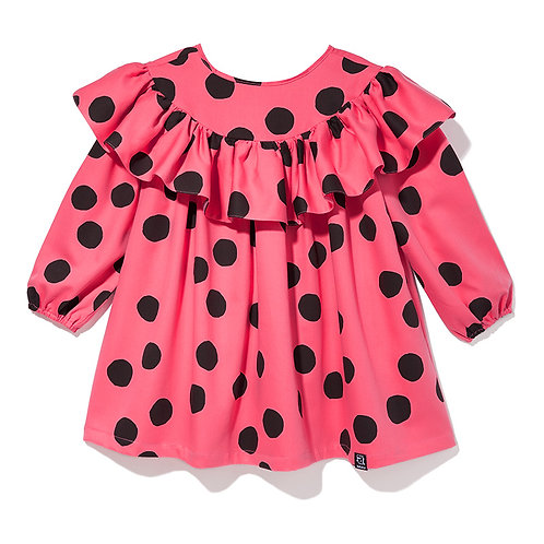ARLEQUIN DRESS PINK DOTS