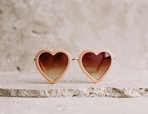 Hearts Peach Sunglasses