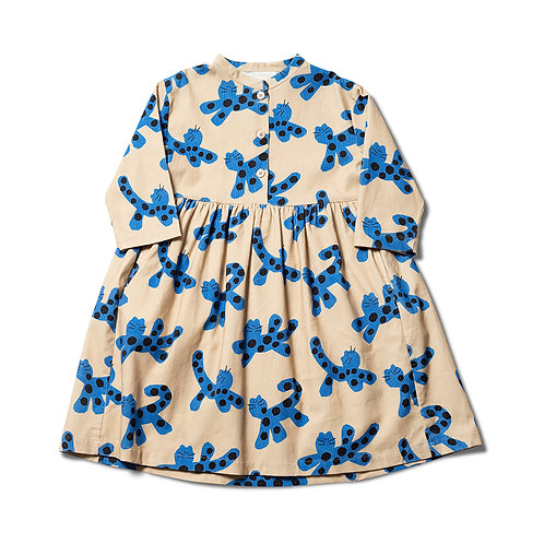 Parti Animal Dress - Chalk / Soft Blue