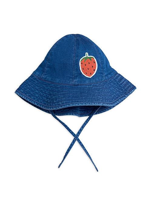Denim Strawberry sun hat