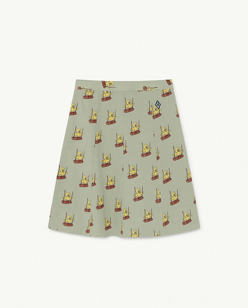 Swan Kids Skirt Green Birds