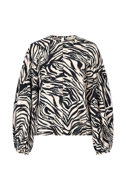 Dianne Top - Zebra Black