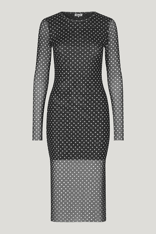 JOLANDA DRESS-BLACK DOT