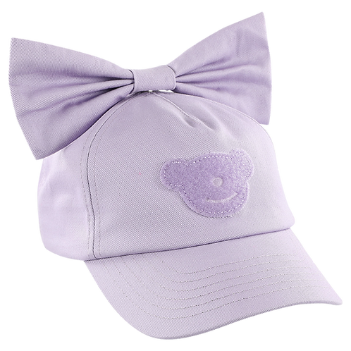 PURPLE CAP WITH BOW