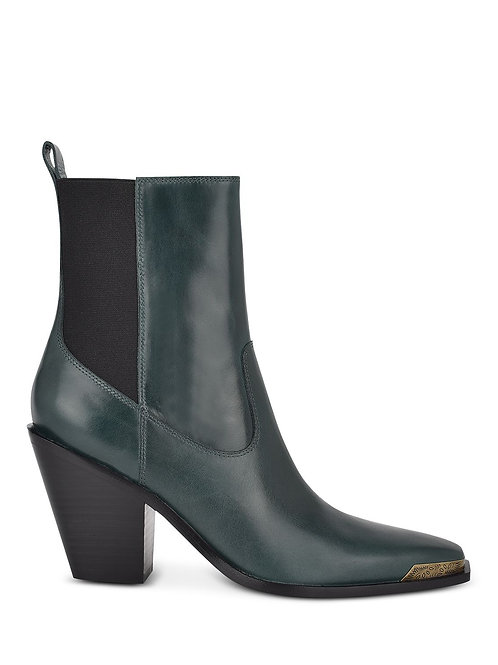 DEEP GREEN COWBOY LEATHER BOOTS