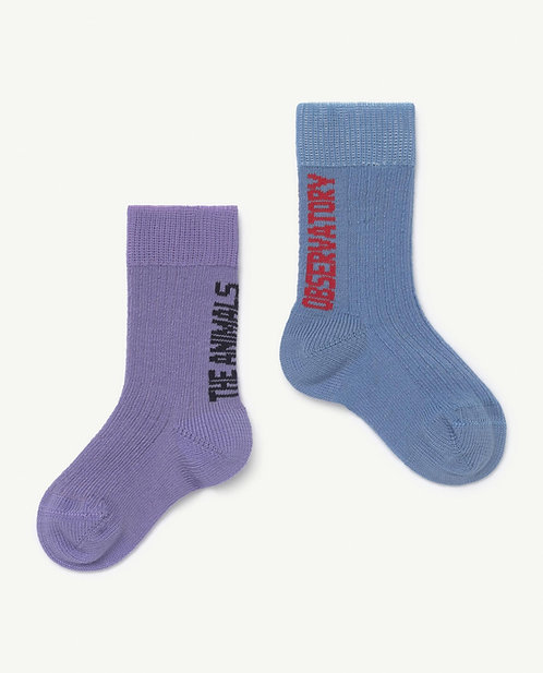Baby Purple Worm Socks