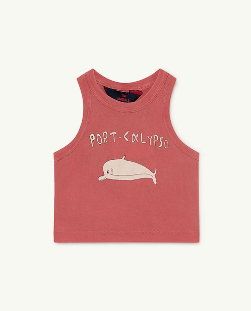 Frog Baby Tshirt Red Dolphin