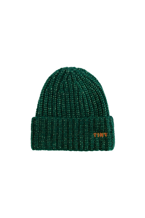 """TINY"" BEANIE DARK GREEN"