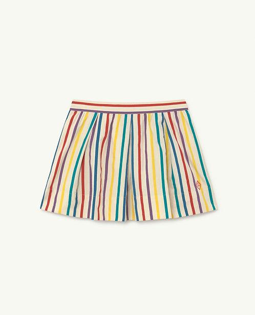 Bird Kids Skirt- White stripes