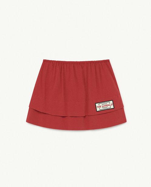 Red Animals Wombat Skirt