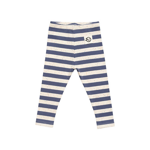 Striped leggings blue baby