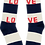 Thumbnail: Ankle Socks Navy Natural Stripe