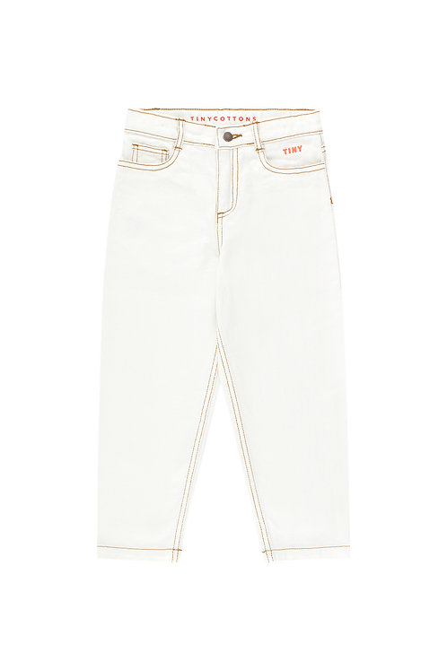 TINY BAGGY JEANS off-white