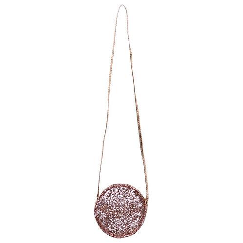 Round Pink Glitter Bag