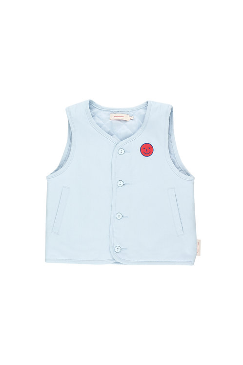 Happy Face Denim vest