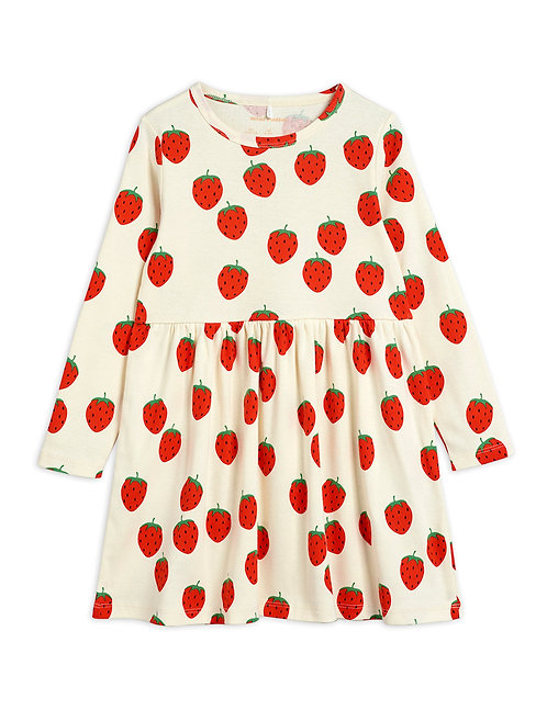 Strawberry aop ls dress