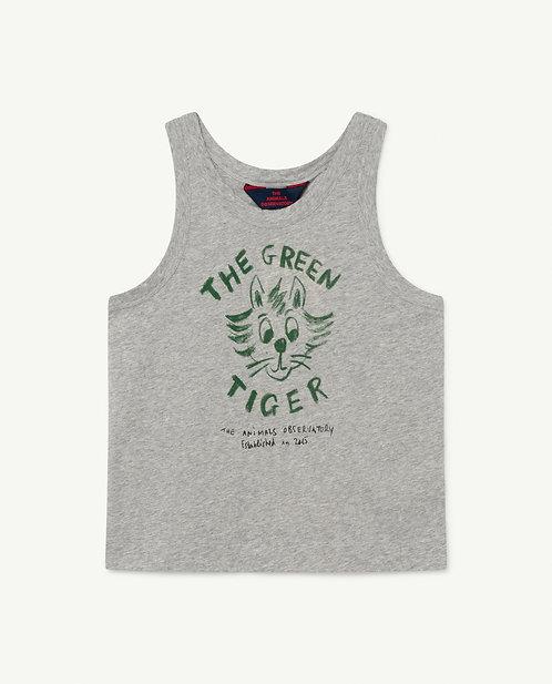 Frog Kids Tshirt Grey Tiger