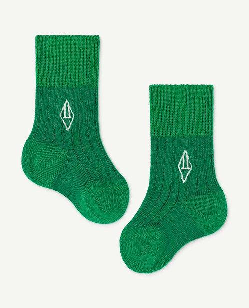 Green Baby Skunk Socks