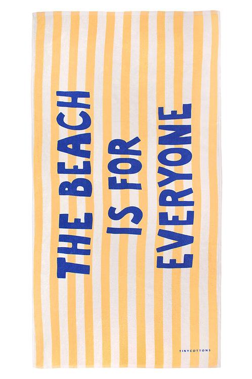 Manifesto Towel Cream Yellow
