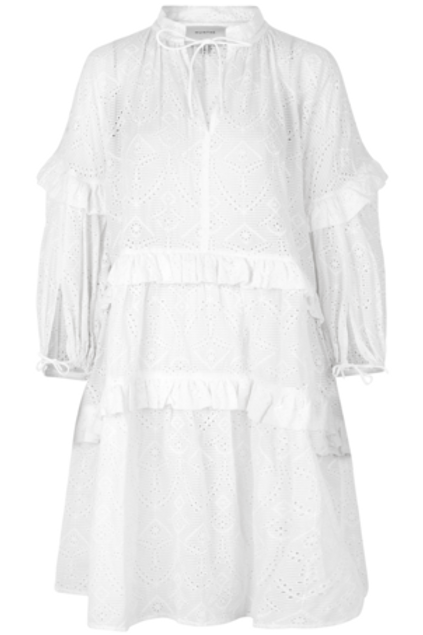 FRILLY DRESS, IVORY