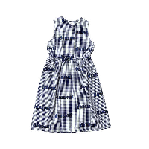 Woven Desert Dress BLUE GINGHAM