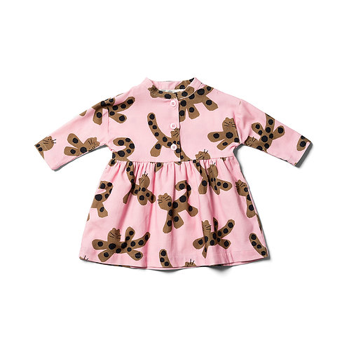 Baby Parti Animal Dress - Mallow Pink / Umber