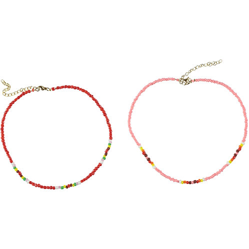 Necklace Pack of two-Red/Pink