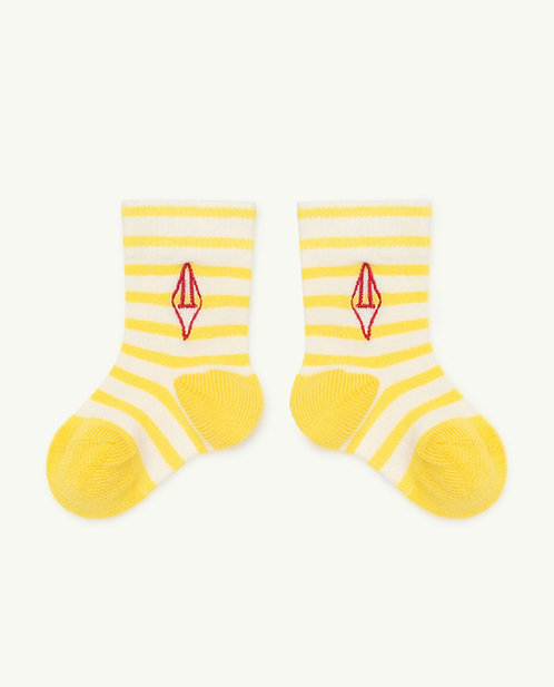 Snail Baby Socks Yellow Logo