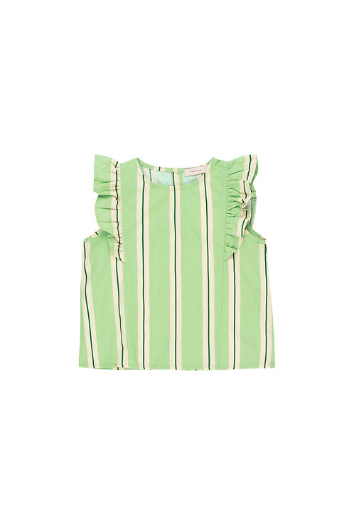 Retro Stripes Ruffles Top