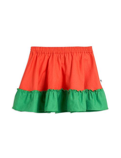 Woven short skirt