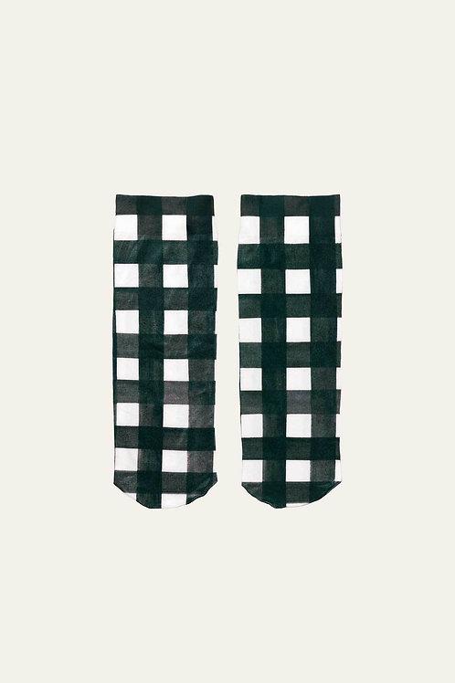 Verita Socks - Gingham Black
