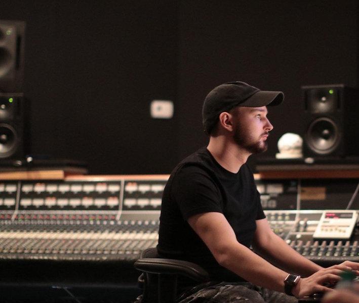 Tristan T Roberts in Omni Sound Studios in Nashville, TN.