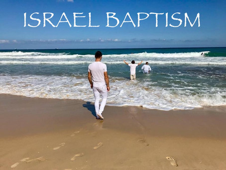 ISRAEL BAPTISM, TEACHER JOSHUA JAMES