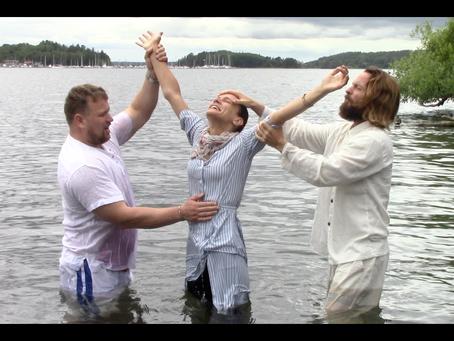 Teacher Joshua James, Stockholm Sweden Baptism