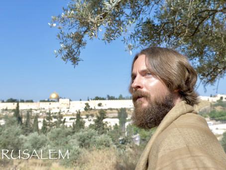 JERUSALEM, ISRAEL, MOUNT OF OLIVES, TEACHER JOSHUA JAMES