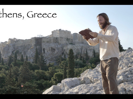 Teacher Joshua James, Athens Greece!  Mars Hill Areopagus