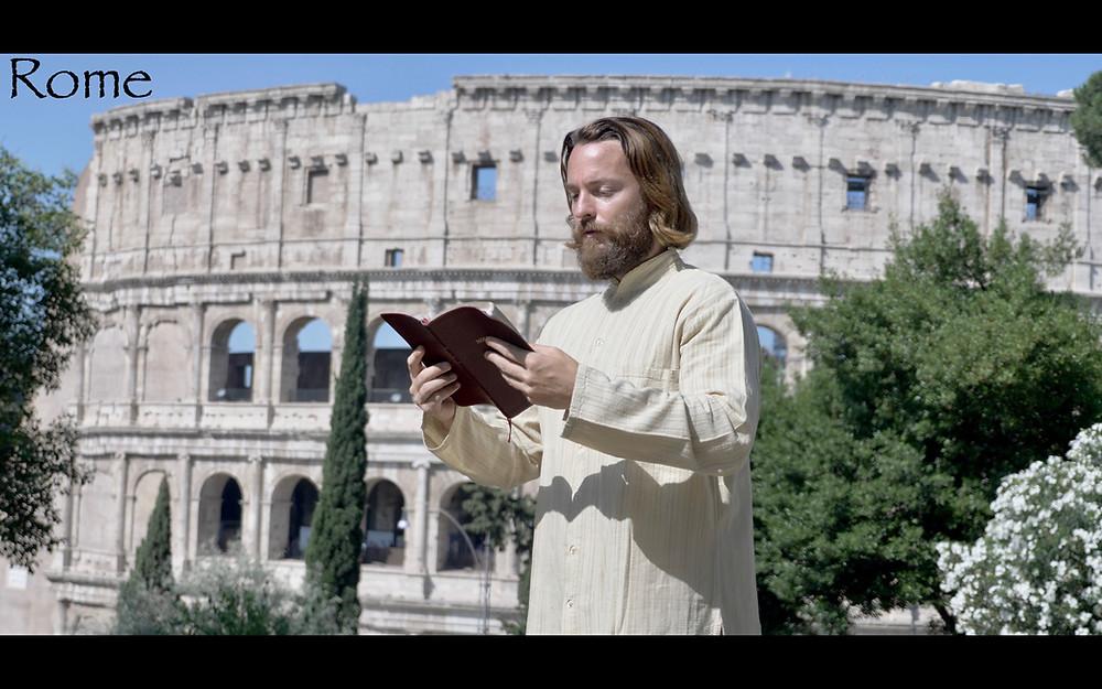 Teacher Joshua James in Rome, Italy