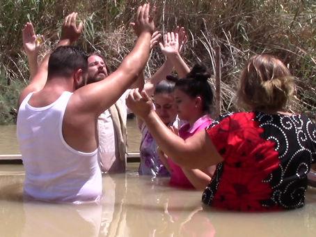 JORDAN RIVER, ISRAEL BAPTISM! TEACHER JOSHUA JAMES
