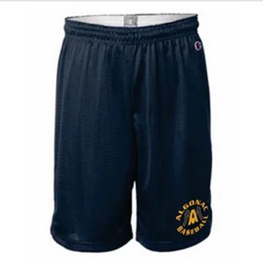 "Champion Algonac Baseball - Polyester Mesh 9"" Shorts"