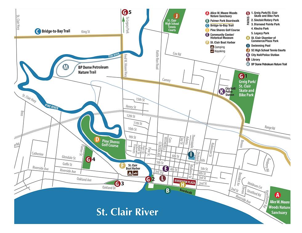 St. Clair Trailhead Map