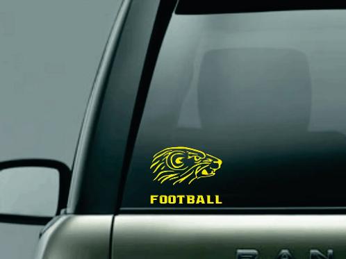 Algonac Football Window Sticker