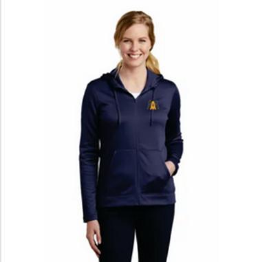 Algonac Baseball Nike Ladies Therma-FIT Full-Zip Fleece Hoodie