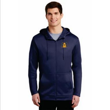 Algonac Baseball Nike Therma-FIT Full-Zip Fleece Hoodie