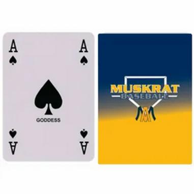 Muskrat Baseball Playing Cards