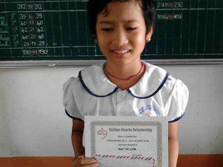 June 30, 2014 - Scholarship Award in Tien Giang