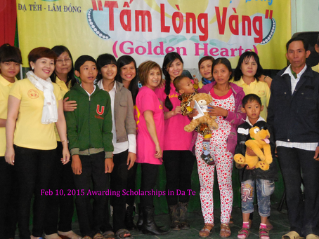 Feb 10, 2015   Distributing goods & Scholarship in Dạ Tẻ