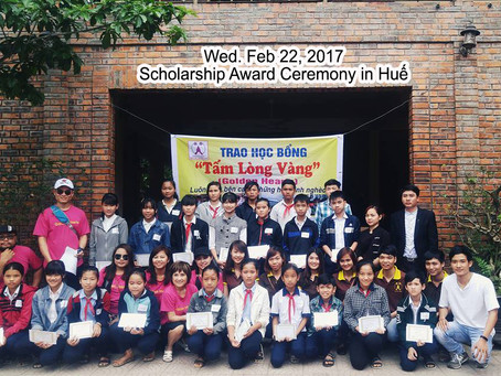 Feb 22, 2017 - Scholarships Award in Huế