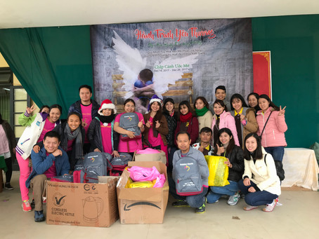 Dec 22, 2017 -  Scholarships & Distributing 200 gifts in  Binh Thanh, Huong Tra, Thua Thien Hue